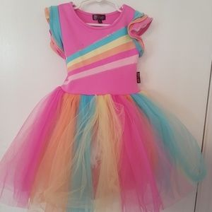 Jojo's closet multi color and pink girls dress
